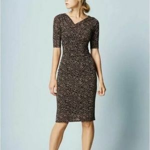 Boden Rita 12R speckled ruched faux wrap dress 957